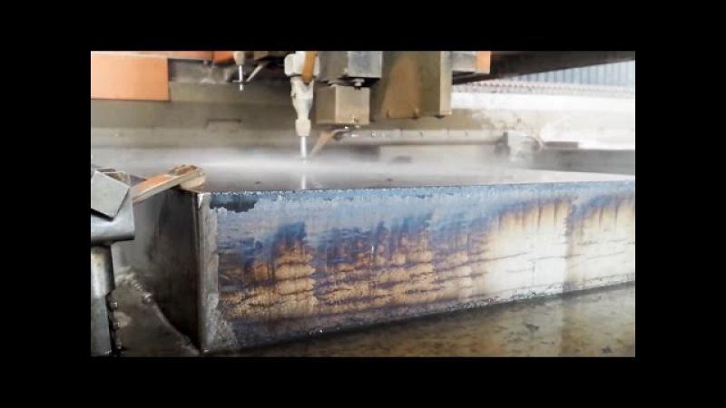 Вода режет толстостенный металл как масло
