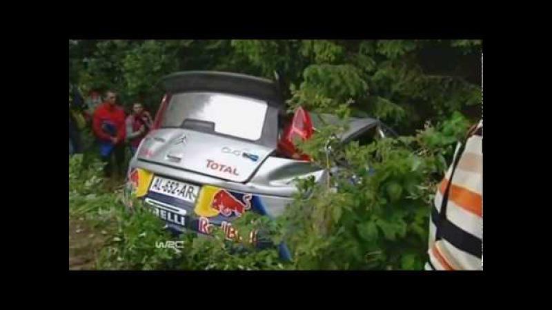 Kimi Raikkonen crash in Bulgaria rally 2010