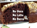 Torta all'acqua con cacao pere e nocciole Senza Uova Senza Latte Senza Burro