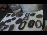 Экспериментальная чистка   старинных  броши с Ультра шалью