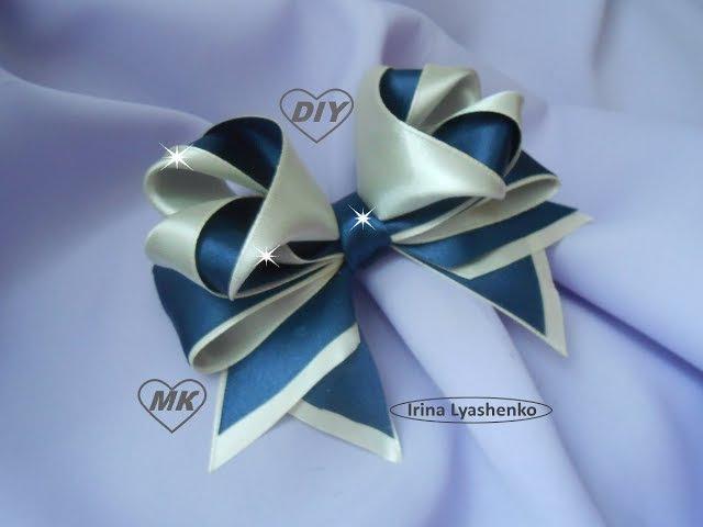 Бант 3D из атласной ленты МК/ DIY 3D bow of ribbon/ PAP Arco de fita 3d. Tutorial