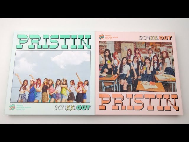 Unboxing Pristin 프리스틴 2nd Mini Album SCHXXL OUT (Out In Edition)