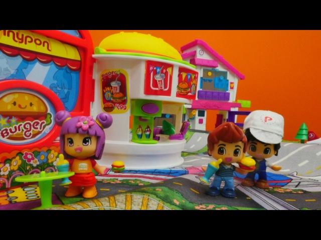 LPS Pinypon oyuncakları 🍔 Pinypon Burger Dükkanı macerası🥛🌮 Kafe oyunları uçakoyunları