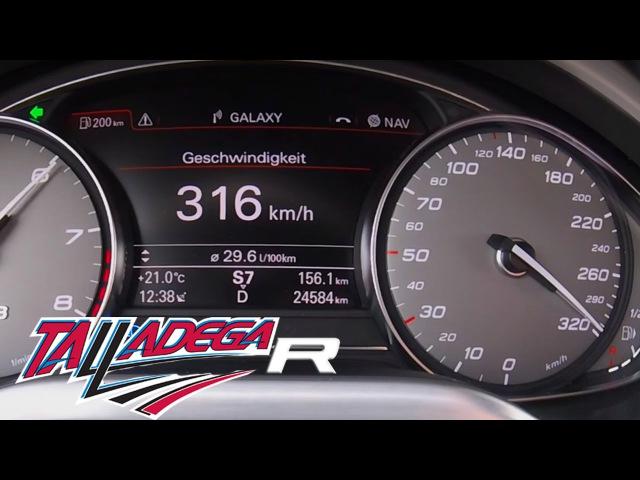 Audi S8 MTM Talladega R 802 HP 4.0 TFSI - 316 km/h Acceleration Autobahn Sound