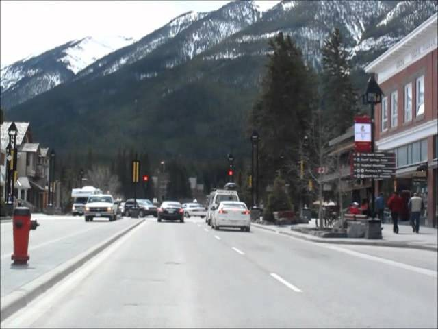 Driving in Banff from Downtown to Mount Tunnel (music: Catherine MacLellan)