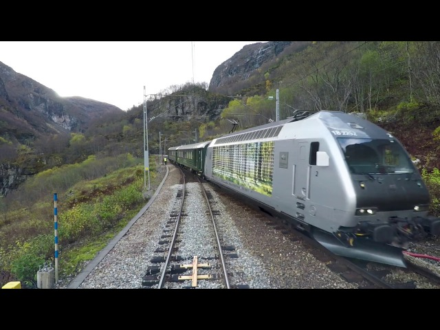 Train Drivers View Flåm - Myrdal (Trains meet at Berekvam)