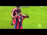 David Alaba Amazing Free Kick Goal~Bayern Munich vs Braunschweig 1-0 2015 DFB Pokal