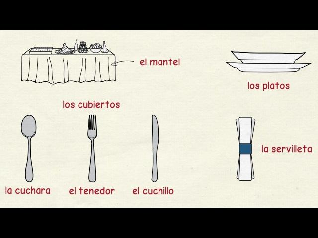 Aprender español: Utensilios de cocina y mesa (nivel intermedio)