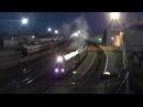 Тепловоз ТЭП70БС 143 с пассажирским поездом Кинешма Москва и бегущие провожающие