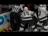 Jonathan Quick, Corey Perry have a tussle in the goal crease | November 7, 2017