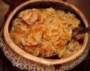 Курица с рисом в горшочках