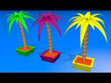 Toddlers learn colors. Learning videos for kids with 3D сolor Palm Tree.
