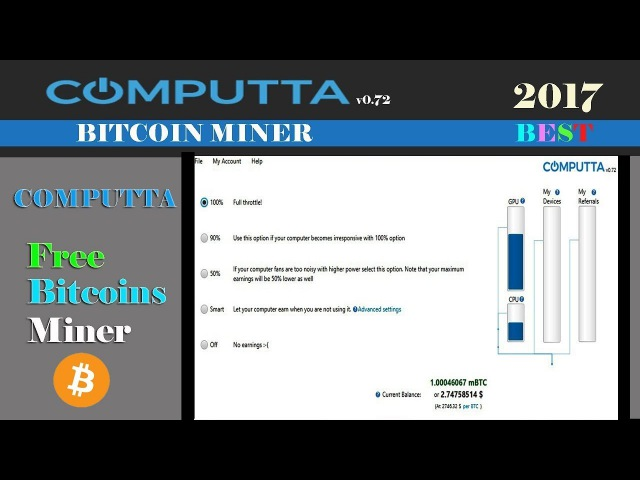 COMPUTTA Free Bitcoins Miner Best software For PC and Laptop(2017)
