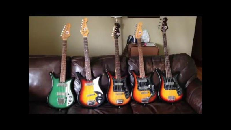 Tiptoe Through the Tulips - Teisco Tulip Guitars Comparing and Repairing