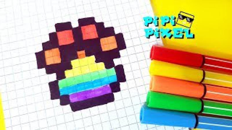RAINBOW FOLDER PIXEL ART HOW TO DRAW ! РАДУЖНАЯ ЛАПКА РИСУЕМ ПО КЛЕТОЧКАМ !Handmade Pixel Art l.o.l