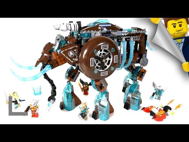 Обзор набора Lego Legends of Chima 70145 Ледяной Мамонт-Штурмовик (Maula's Ice Mammoth Stomper)