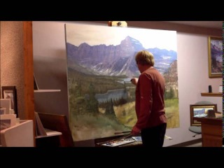 Art, Mark Ogle, Oil Painting, Confluence of Josephine_Grinnell Lakes
