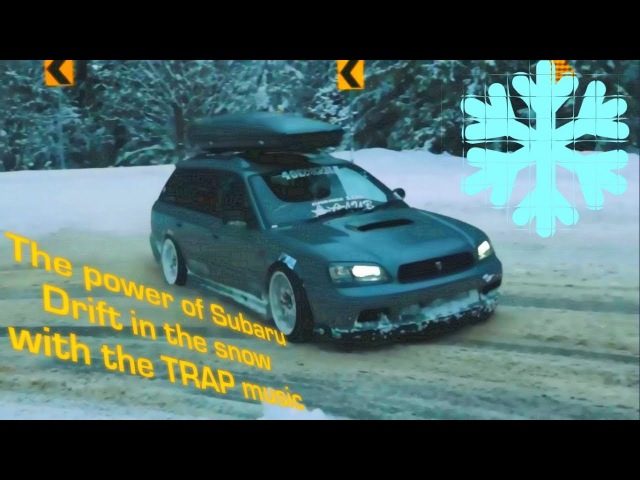The power of Subaru - Drift in the snow with the Trap music