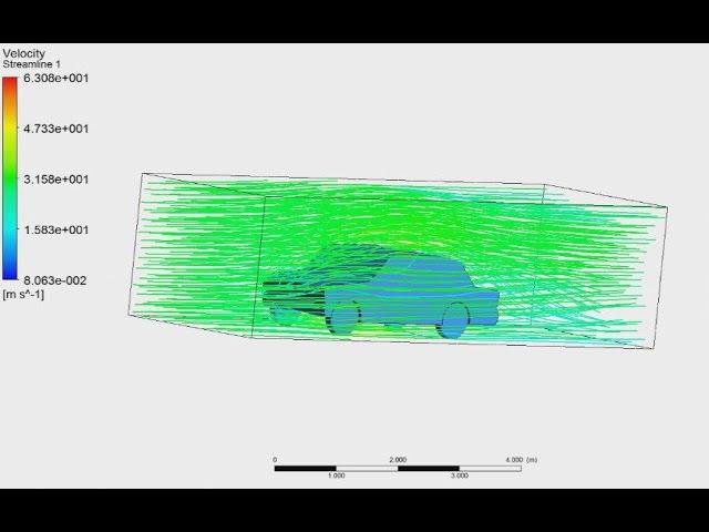 Tutorial ANSYS CFX Part 22   Analysis aerodynamics the car in ANSYS CFX, drag and lift force