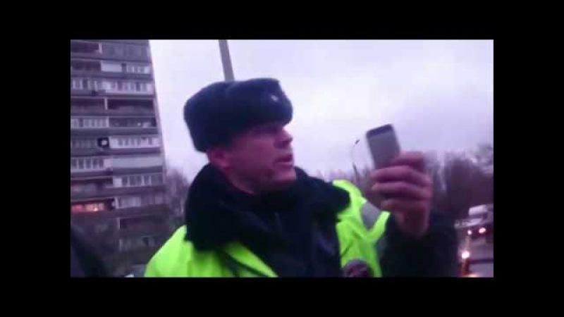 Беспредел ДПС Московский гаишник напал и пытался задушить прохожего