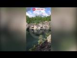 Мраморный карьер в Карелии, пожалуй, самая красивая каменоломня в мире