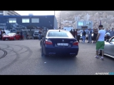 BMW M5 E60 with Eisenmann Race Exhaust INSANE Launches  Burnouts!