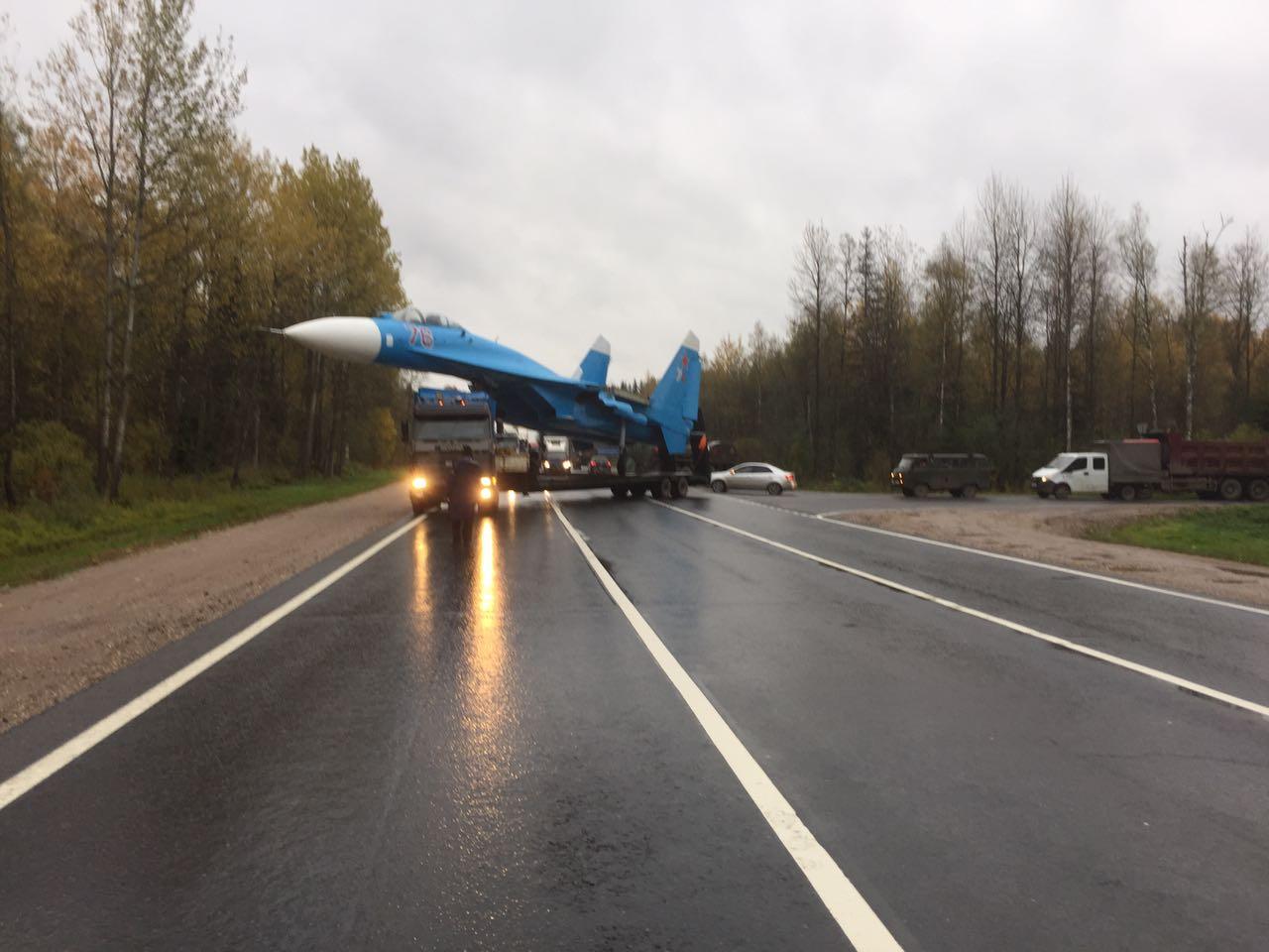 Монумент истребителю Су-27 установлен вТверской области