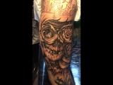 Tattoo-artist: Kira Kit , череп, 2017