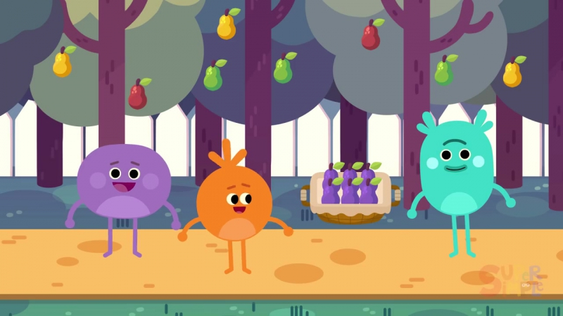 The Bumble Nums Make Purple Pear Pie! _ Cartoon For Kids