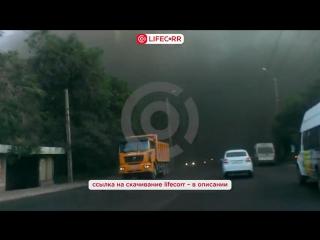 Дым пожара на Челябинском заводе закрыл все небо