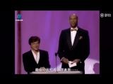 Джеки Чан и Абдул-Джаббар  на 68-й церемонии вручения премии Оскар в 1996 году