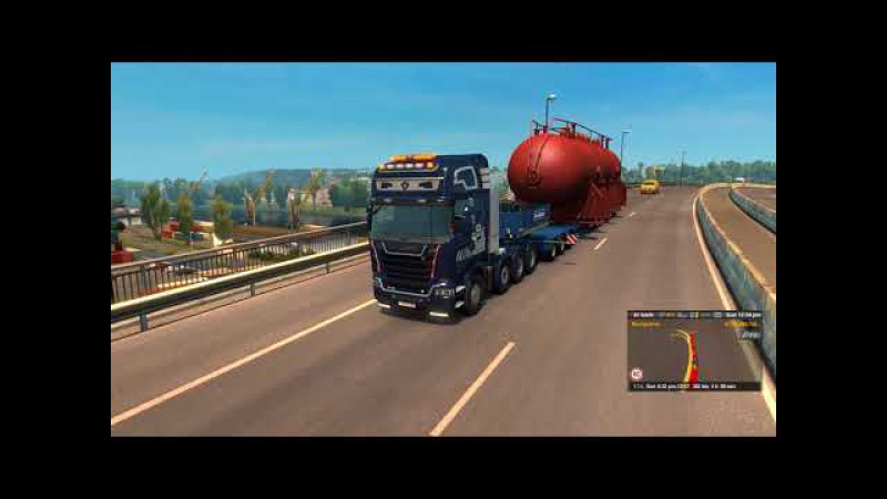 [Special Transport DLC] ETS2 - Heat Exchanger (70t) from Nantes to Civaux