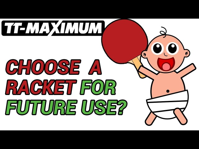 How to choose table tennis racket, blade or rubber for future use, ENG SUB как выбрать на вырост