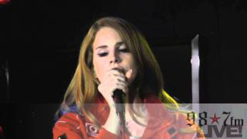 Lana Del Rey- Video Games LIVE Inside the 98.7FM Performance Studio
