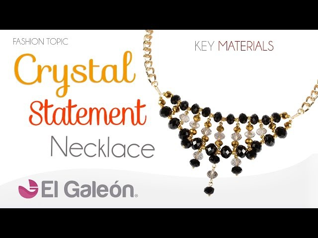 Fashion Topic El Galeón Crystal Statement Necklace (Collar con Cristales)
