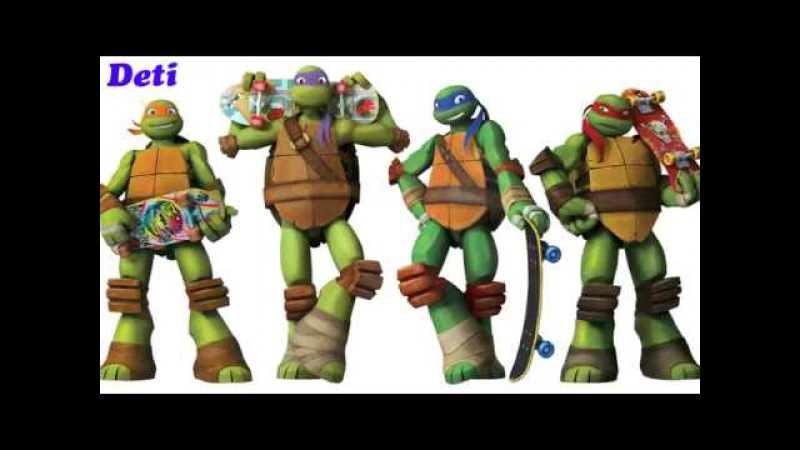 Песня Черепашки ниндзя на английском (сериал Nickelodeon)