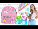 DIY BACK TO SCHOOL SUPPLIES! Notebooks, Clothing Decor 2017!