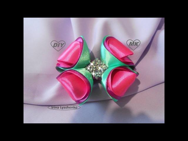 Бант 3D из лент МК/ DIY 3D bow of ribbons|/ PAP Laço 3D de fitas Tutorial