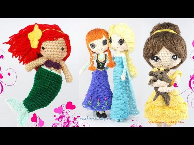 Вязаные Принцессы Диснея 80 уровня Knitted Disney Princess 80 level