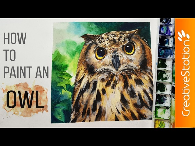 Owl - How to paint a Watercolor | CreativeStation