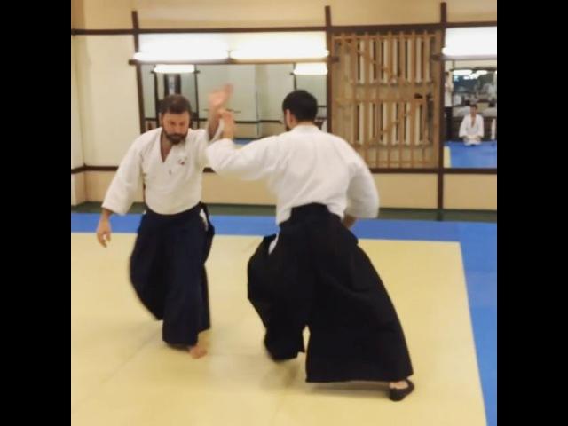 Первая техника после разминки, попробуй уследи тут за ногами, руками и всеми передвижениями😄😎lenkai ленкай lenkaiclub aikido