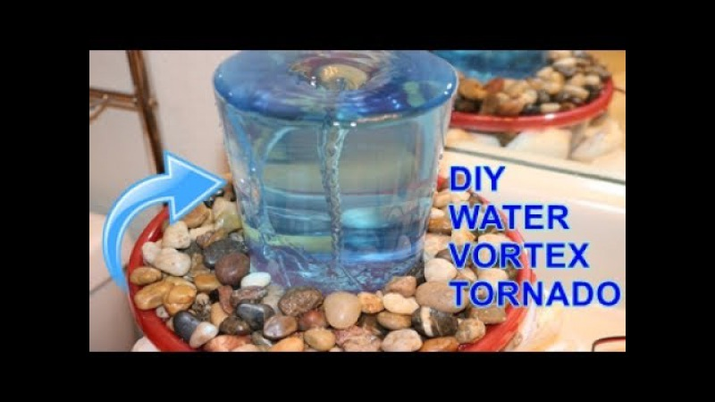 How to make a VORTEX WATER FOUNTAIN at home