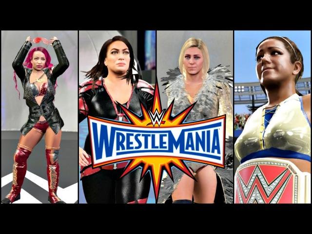 WWE 2K17 Wrestlemania 33 Simulation RAW Womens Championship Fatal 4 Way Full Match