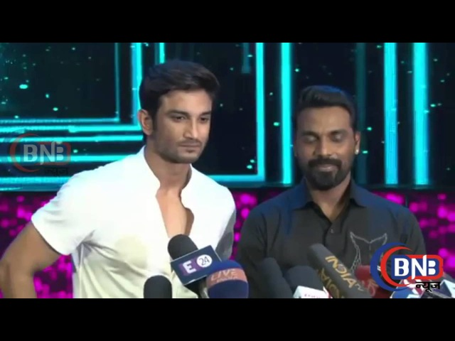 Sushant Singh Rajput Remo D'Souza Interview At Pramote Film M S Dhoni On Set Of Dance 2 On Star P