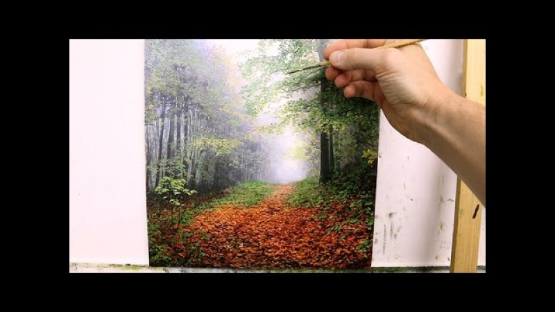 How To Paint Trees In The Mist | Oil Painting Tutorial