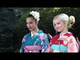 Sofia Carson and Dove Cameron looking STUNNING with kimono costume in Japan