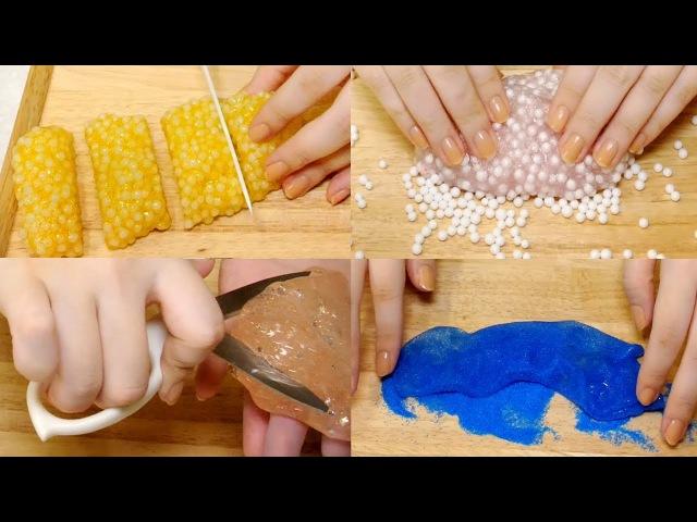 ASMR Satisfying 10 Slime Sounds BEST🌟슬라임특집