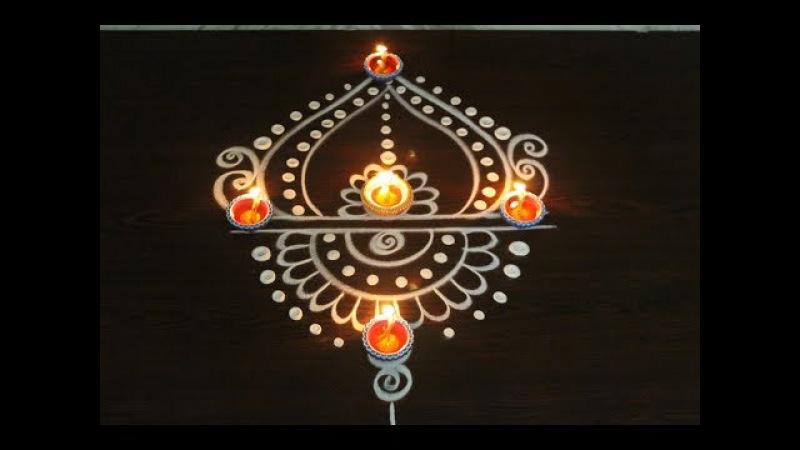 Beautiful easy rangoli designs for diwali 2017 - diwali kolam designs - muggulu for deepavali