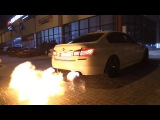BMW M5 F10 w Akrapovic PP Performance - The BIGGEST M5 Flames EVER!