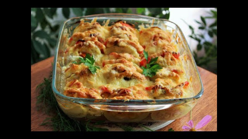 ВКУСНЕЙШАЯ ЗАПЕКАНКА ИЗ КАБАЧКОВ с курицей! Кабачковая запеканка с курицей и сыром, простой рецепт!